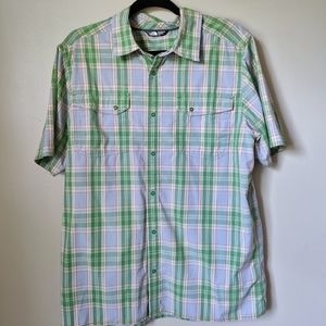 The North Face Plaid Snap Button Down Shirt L
